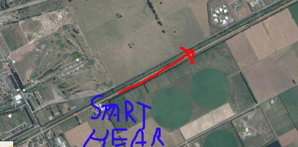 The emu run (Google Earth)